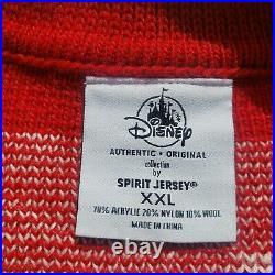 Walt Disney World XXL Mickey Mouse Holiday Spirit Jersey Knit Cardigan Sweater