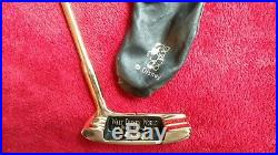 Walt Disney World golf Putter Lake Buena Vista Florida collectible GOLD PLATED