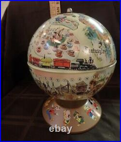 Walt Disney and Rand McNally Disneyland Game A World in Itself globe VGC