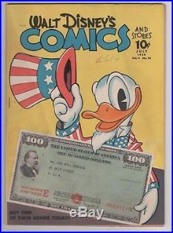 Walt Disney's Comics & Stories, July 1944, Vol. 4, No. #10, Patriotic World War II