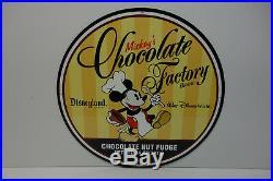 Walt Disneyland-World Mickey's Chocolate Factory Brand Metal Sign-Disney Classic
