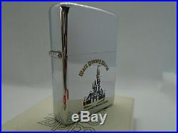 Zippo Windproof Lighter'Walt Disney World' HP Chrome 1978 MEGA RARE NEW